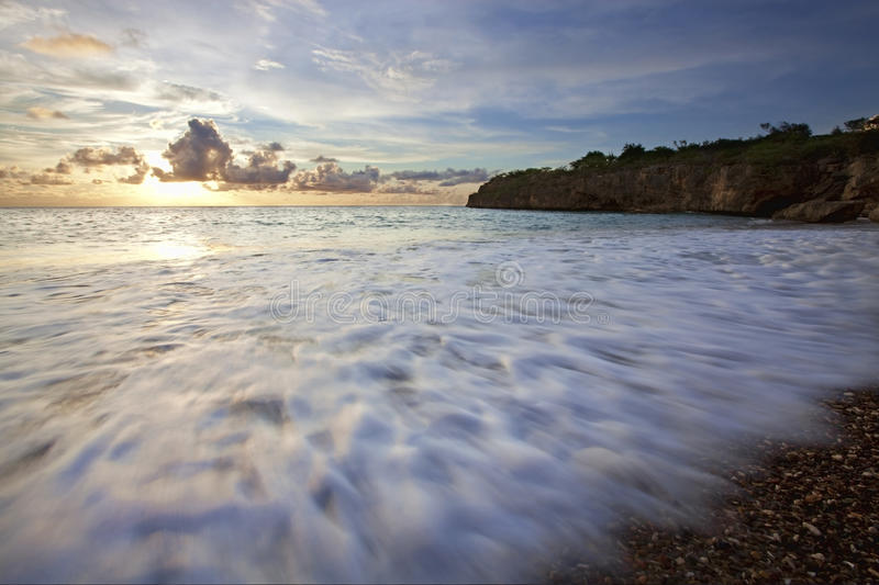 Sunset Curacao royalty free stock images