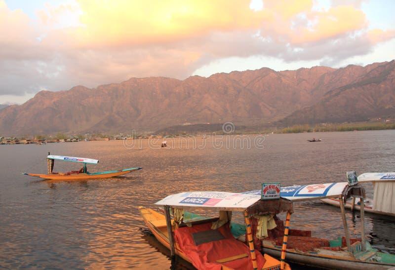Sunset In Dal Lake. stock image