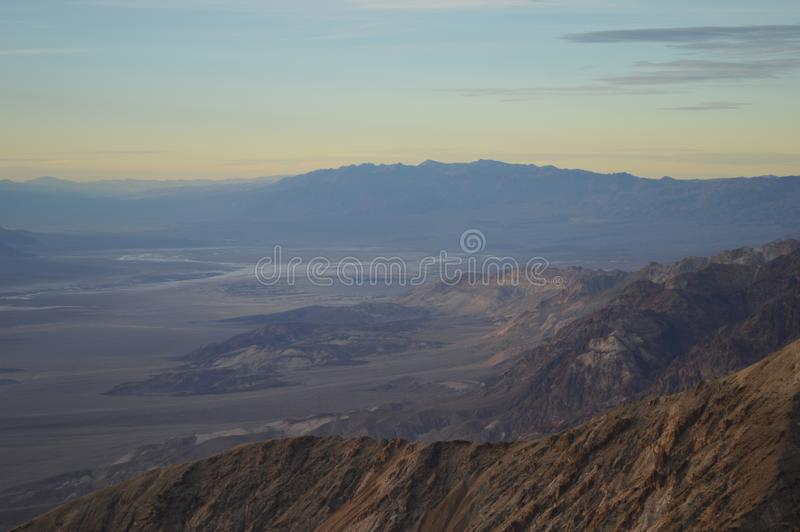 Sunset at Dante`s View in Death Valley California royalty free stock photos