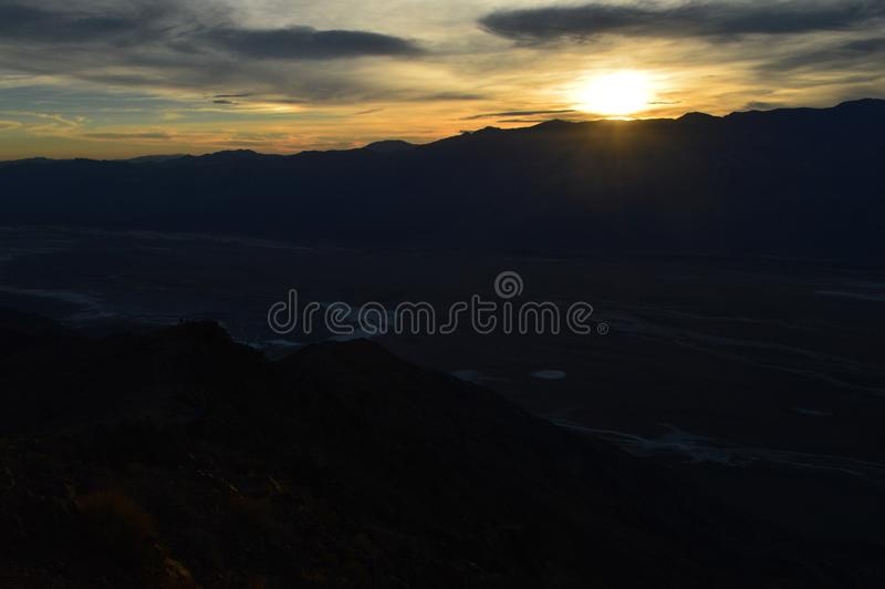 Sunset at Dante`s View in Death Valley California royalty free stock photo