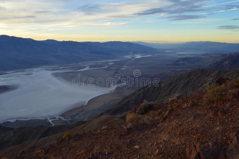Sunset at Dante`s View in Death Valley California royalty free stock images