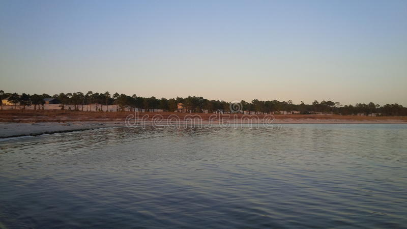 Sunset on dauphin island alabama stock photo