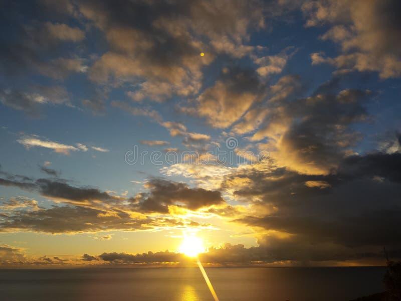 Sunset at Dobra Voda stock photo