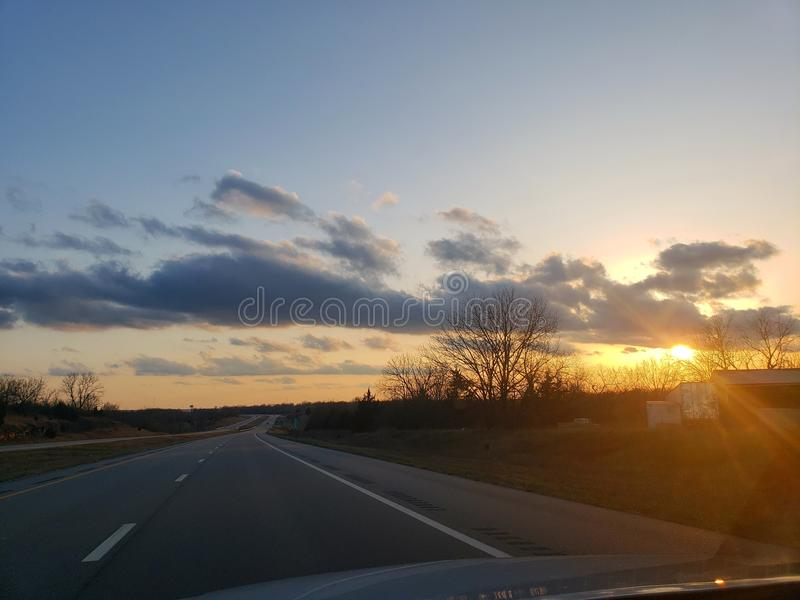 Life from behind the wheel stock photography