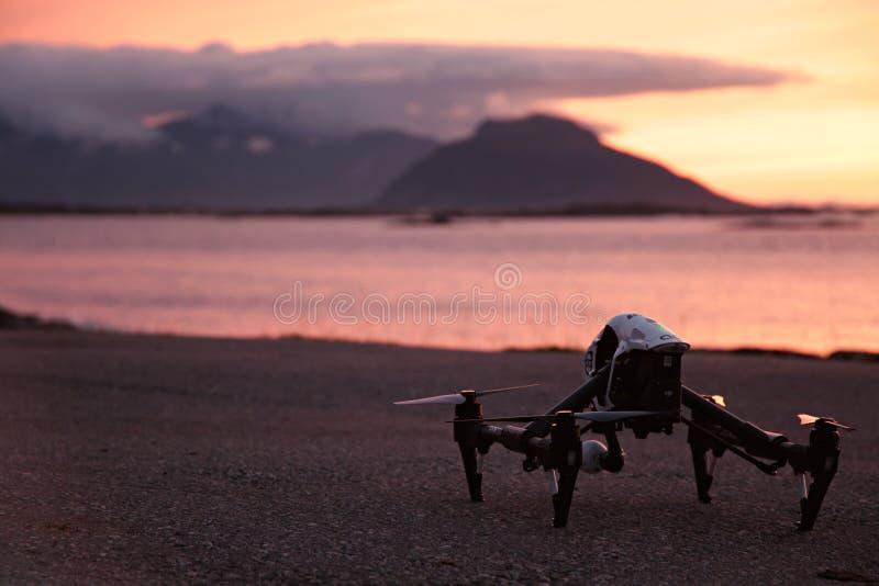 Sunset Drone stock photo