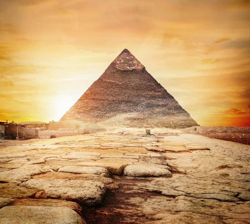 Sunset in Egypt royalty free stock photos