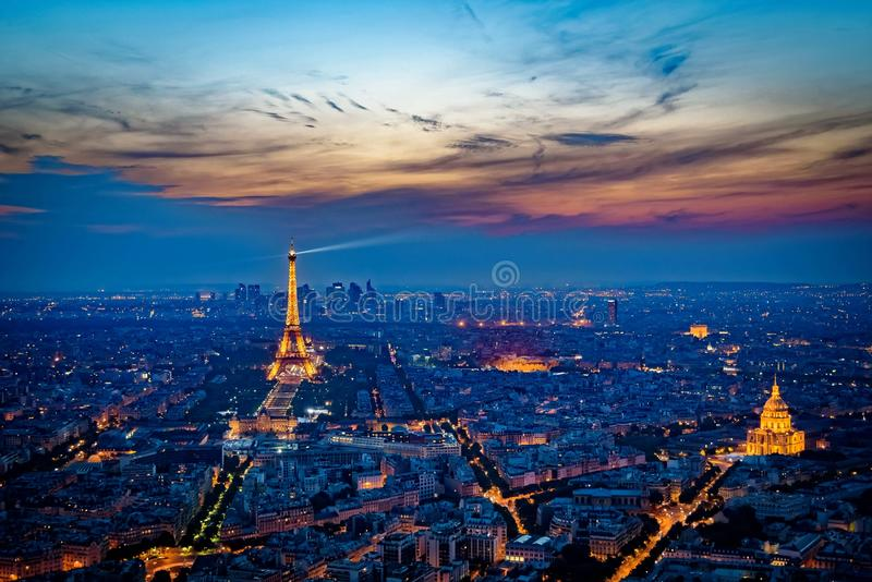 Sunset Eiffel Tower royalty free stock photos
