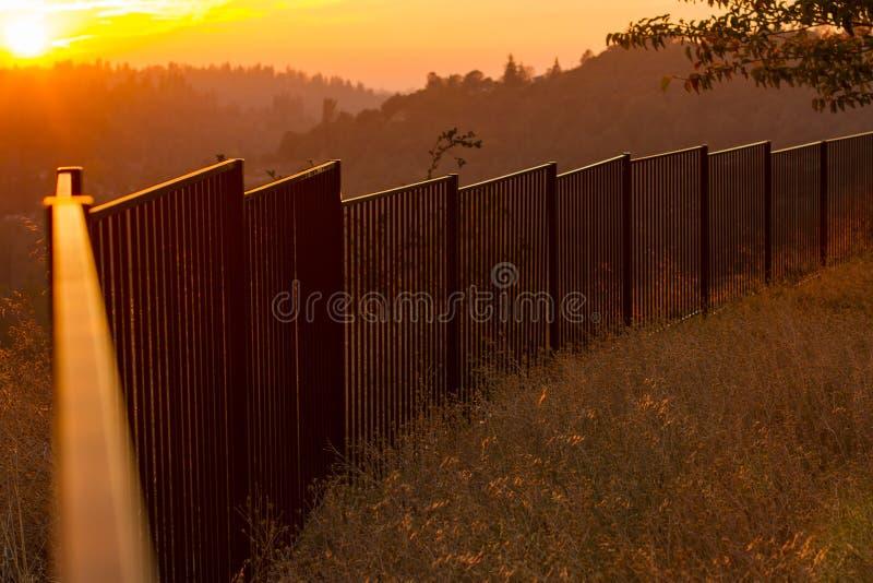 Sunset El Dorado County. A sunset over looking Apple Hill in El Dorado County California stock image