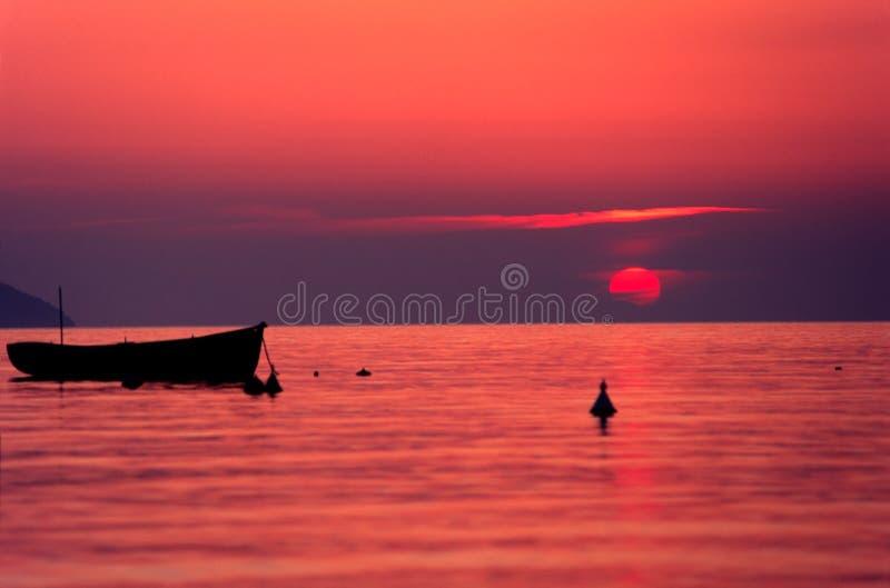 Sunset, Elba Island. stock image