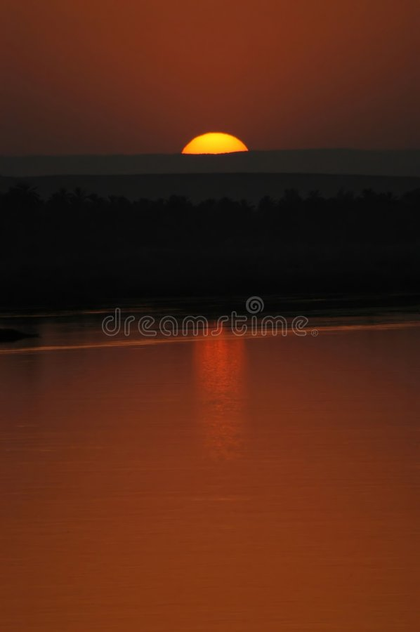 Sunset end royalty free stock photo