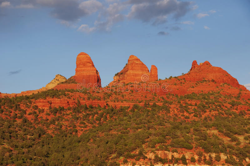 Sunset Evening Of Red Rock At Sedona Royalty Free Stock Image