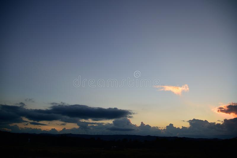 Sunset at evening royalty free stock images
