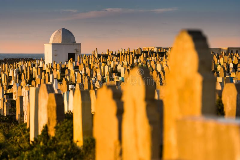 Famous Cemetery at Sale Graveyard in Morocco stock photos
