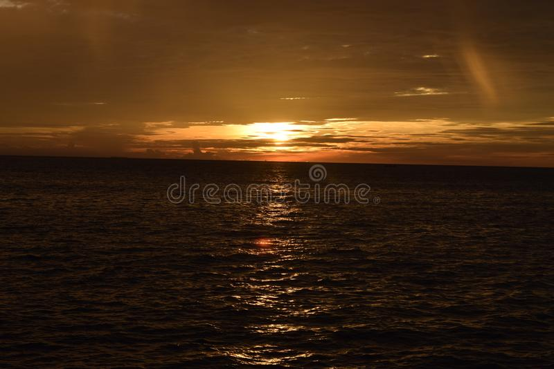 SunSet First At Taplau stock images