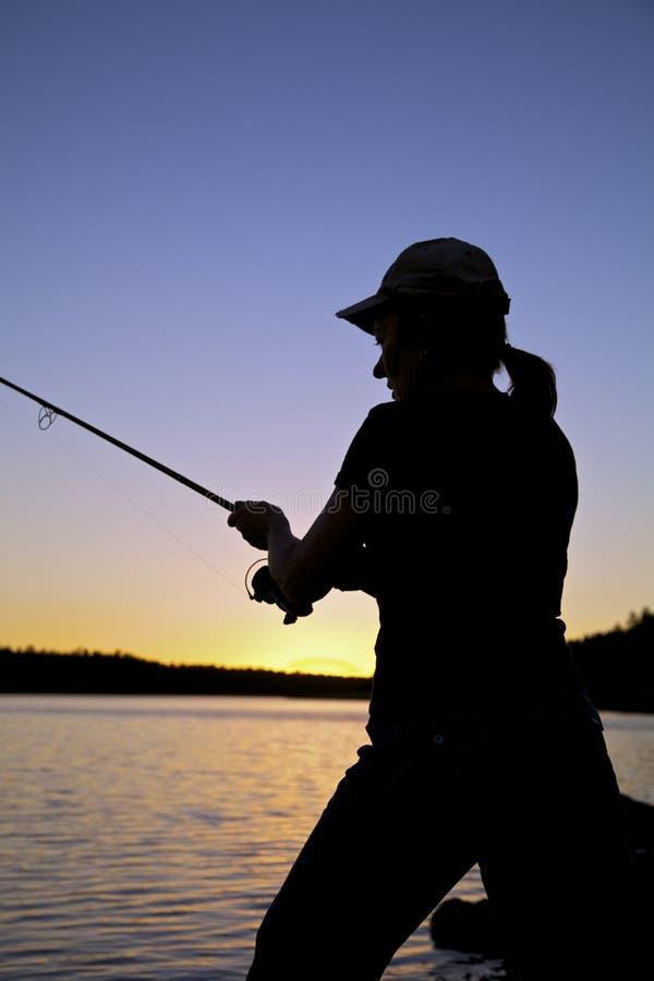 Sunset Fisherman Close Up