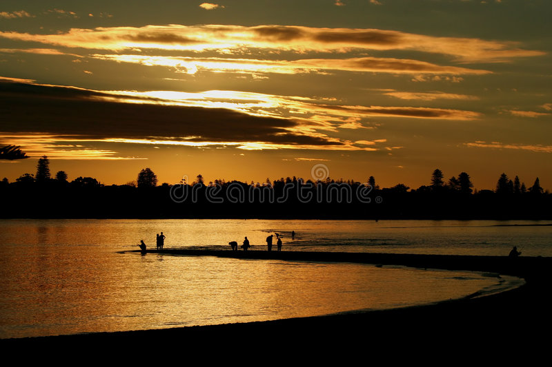 Download Sunset Fishing At Point Walter, Swan River, Perth. Stock Photo - Image: 5510888