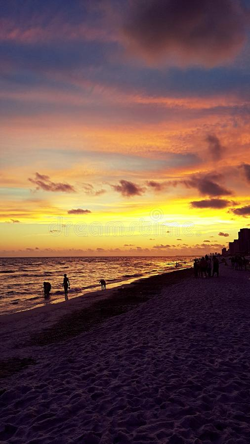 Sunset in Florida stock images