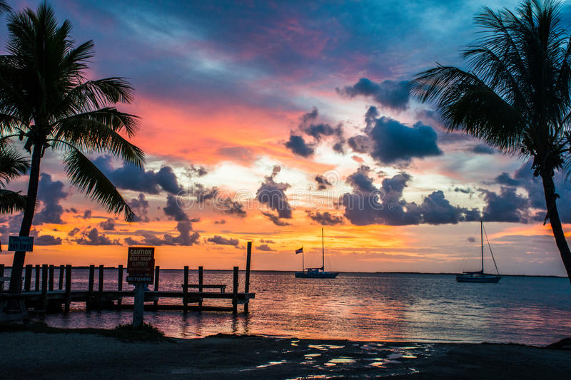 Sunset in Florida Keys royalty free stock photography