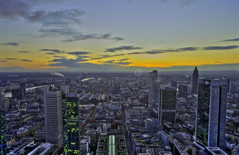 Download Sunset in Frankfurt, HDR stock image. Image of european - 13175737