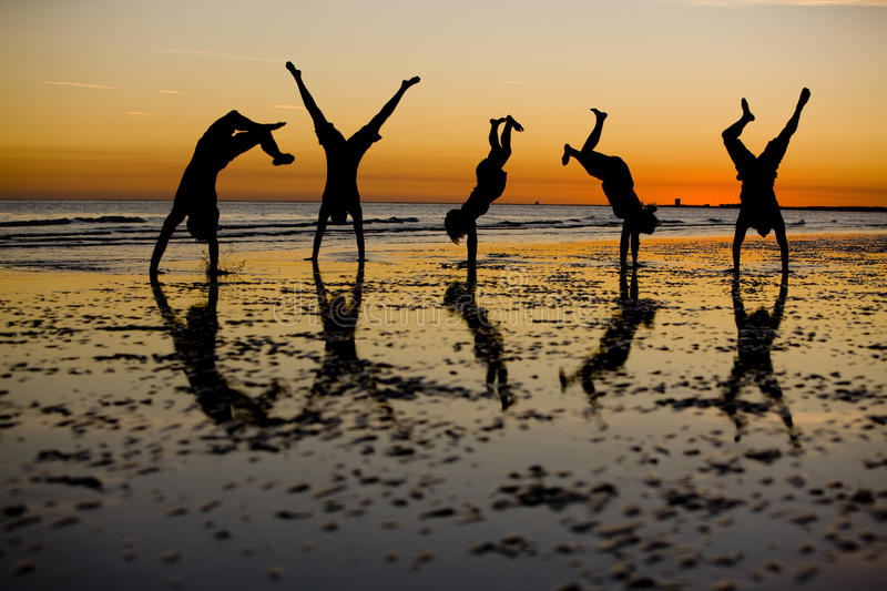 Download Sunset Fun stock photo. Image of athletic, healthy, hand - 9453320