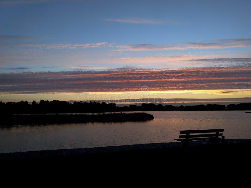 Sunset in Galgenweel stock photos