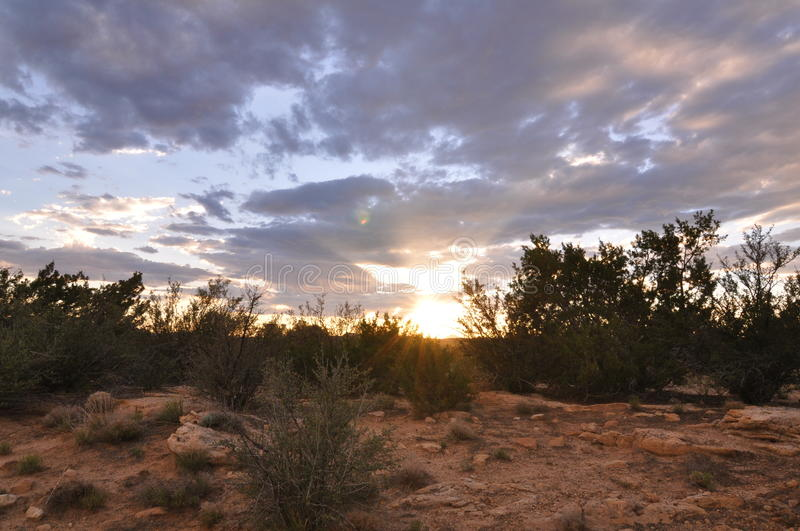 Sunset galisteo new mexico royalty free stock photo