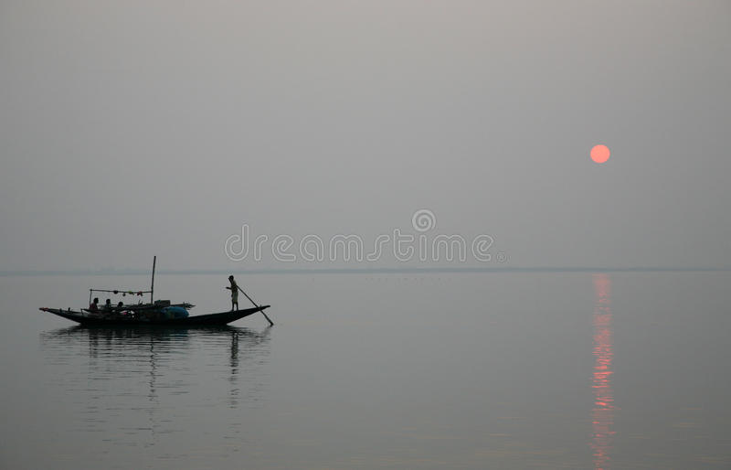 Download Sunset, Ganges Delta Stock Photo - Image: 21772750
