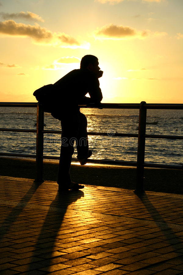 Sunset Gazing stock photography