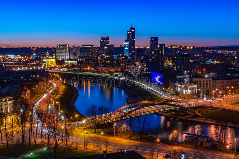 Vilnius Long Exposure royalty free stock photography
