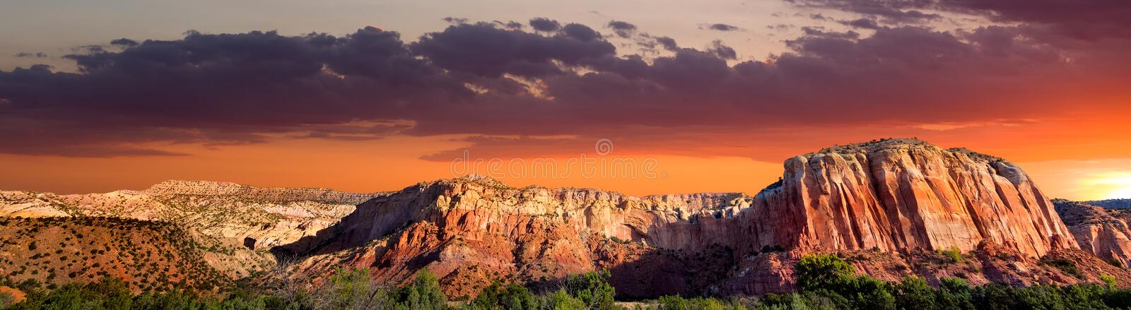 Sunset at Ghost Ranch royalty free stock photos