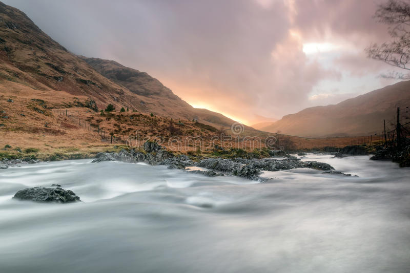 Sunset At Glen Etive Royalty Free Stock Images