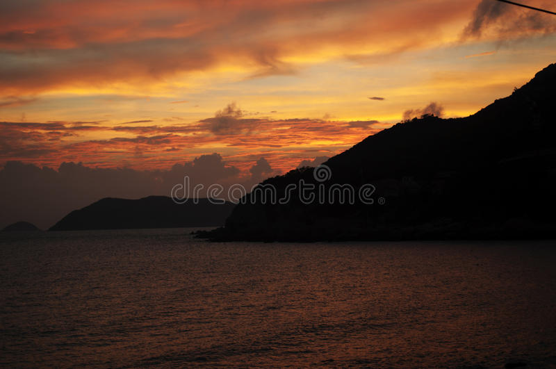 Download Sunset glow stock photo. Image of mediterranean, background - 19854800
