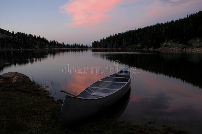 Sunset Glow At The Lake Stock Images