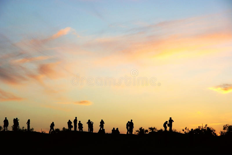 Download Sunset Glow With People Royalty Free Stock Photos - Image: 16509358