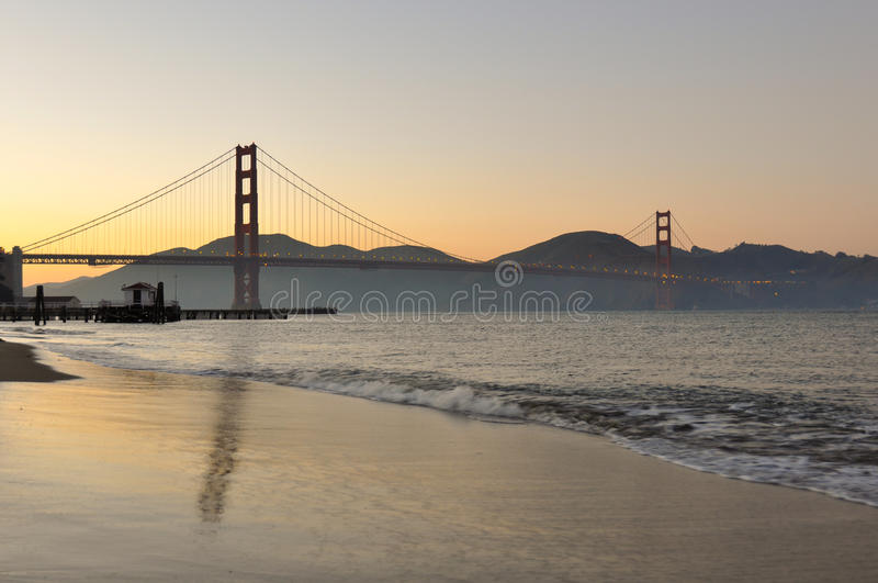 Sunset at Golden Gate Bridge, San Francisco, California, USA royalty free stock photos