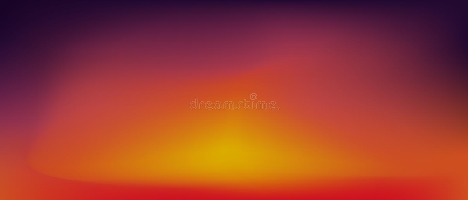Sunset gradient background . vector illustration