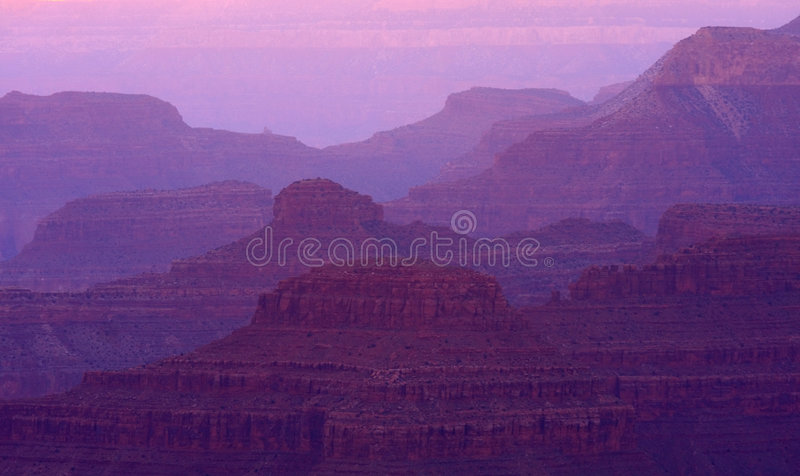 Sunset Grand Canyon Layers stock images