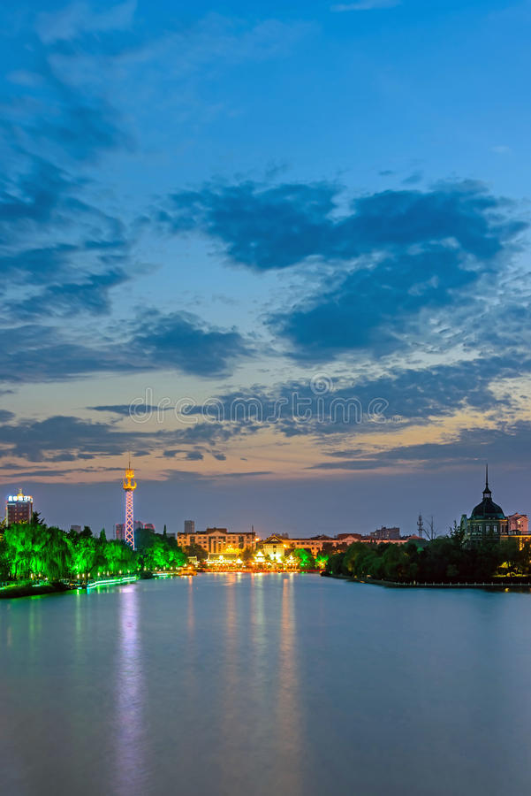 The sunset of Haohe River royalty free stock photography