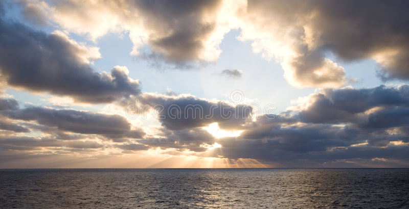 Download Sunset on high seas stock photo. Image of vacation, awesome - 7281102