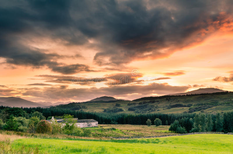 Download Sunset in the Highlands stock photo. Image of scotland - 34386550