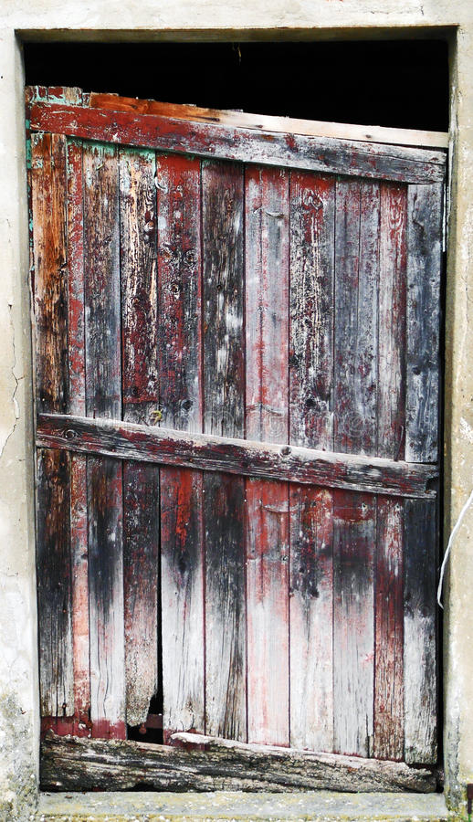 the poor old door royalty free stock photography