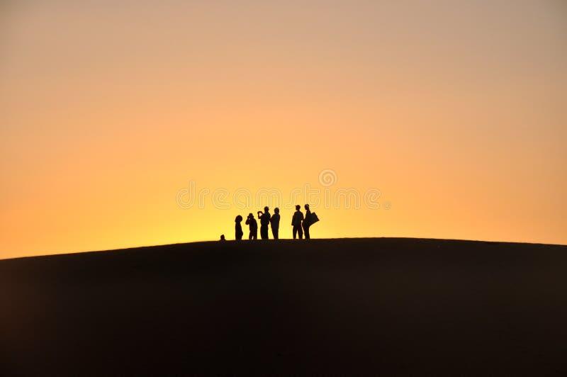 Sunset on horizon royalty free stock photography