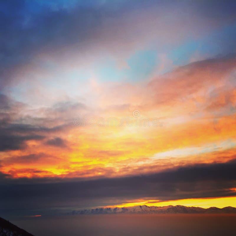 Sunset In Horizon Free Public Domain Cc0 Image