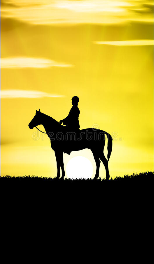 Download Sunset Horse Ride stock vector. Illustration of country - 19463774