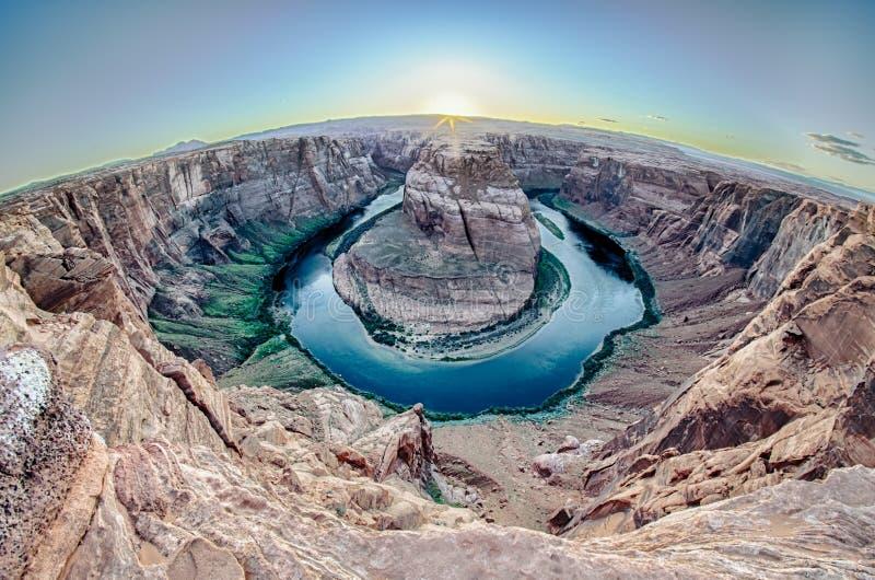 Sunset at the Horseshoe Band - Grand Canyon stock image