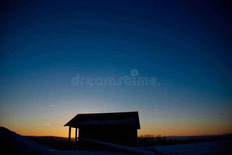 Download Sunset house stock image. Image of landscape, isolated - 28449467