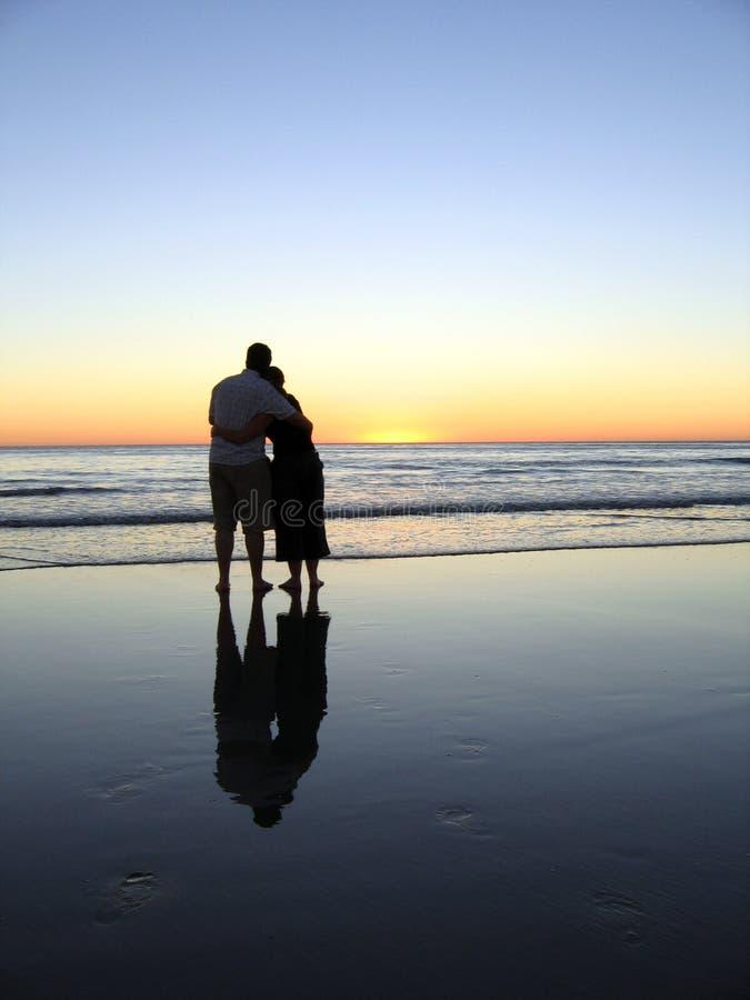 Download Sunset Hugs Reflected II stock photo. Image of away, sunset - 346516
