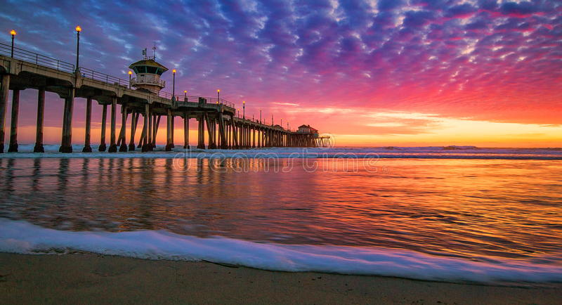 Sunset Of Huntington Beach Stock Photo Image Of California 84105282