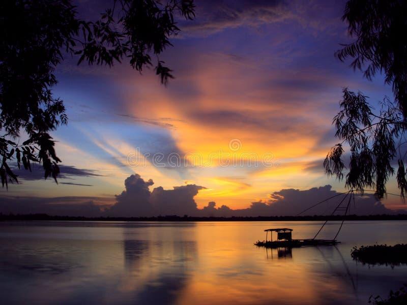 Download Sunset I stock photo. Image of silhouettes, sunset, dramatic - 1414360