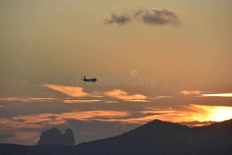 Sunset @ Ibiza royalty free stock image